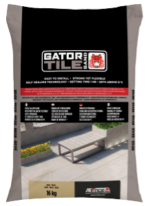 Fixs Gatorsand Tile zak 16 kg Black diamond